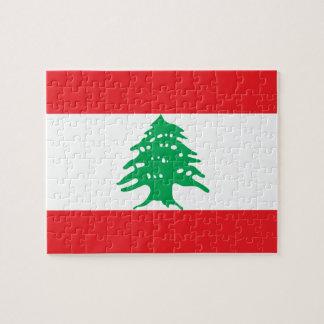 Lebanon National World Flag Jigsaw Puzzle