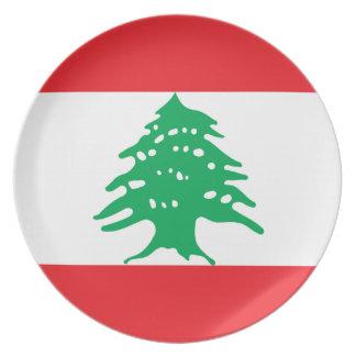 Lebanon National World Flag Plates
