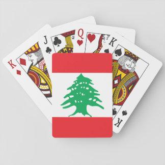 Lebanon National World Flag Poker Deck