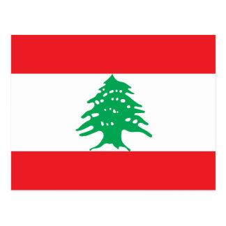 Lebanon National World Flag Postcard