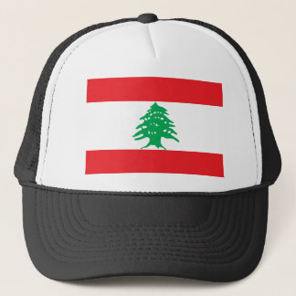 Lebanon National World Flag Trucker Hat