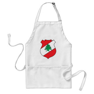Lebanon Official Coat Of Arms Heraldry Symbol Adult Apron