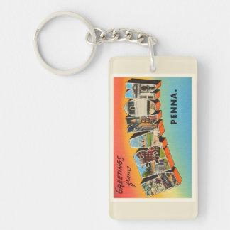 Lebanon Pennsylvania PA Vintage Travel Souvenir Double-Sided Rectangular Acrylic Keychain