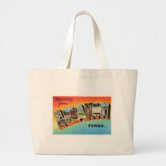 Lebanon Pennsylvania PA Vintage Travel Souvenir Large Tote Bag