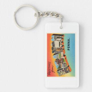 Lebanon Pennsylvania PA Vintage Travel Souvenir Single-Sided Rectangular Acrylic Keychain