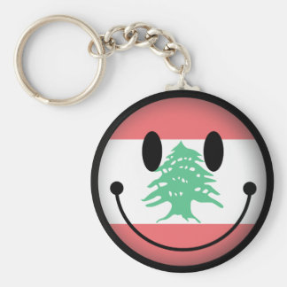 Lebanon Smiley Basic Round Button Keychain