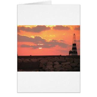 Lebanon sunset card