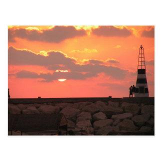 Lebanon sunset postcard