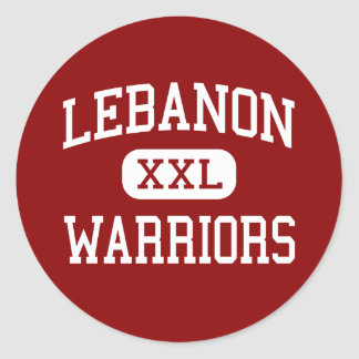 Lebanon - Warriors - High School - Lebanon Ohio Classic Round Sticker
