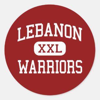 Lebanon - Warriors - High School - Lebanon Ohio Round Sticker