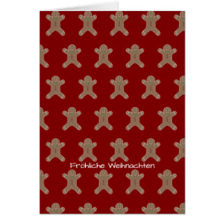 Lebkuchenmann Fröhliche Weihnachten Card