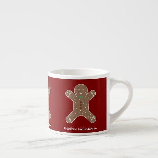 Lebkuchenmann Fröhliche Weihnachten Espresso Cup