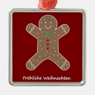 Lebkuchenmann Fröhliche Weihnachten Metal Ornament