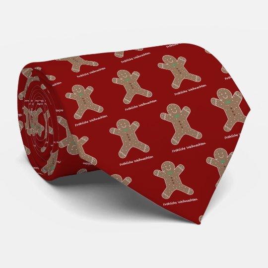 Lebkuchenmann Fröhliche Weihnachten Tie