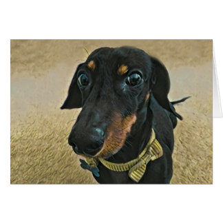 LeBron the Dachshund greeting card