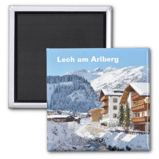Lech am Arlberg in Austria - Souvenir Magnet