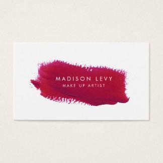 L'échantillon de rouge à lèvres composent des cartes de visite