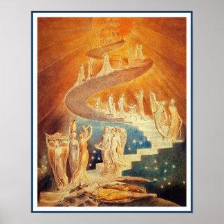 L'échelle de Jacob par William Blake Poster