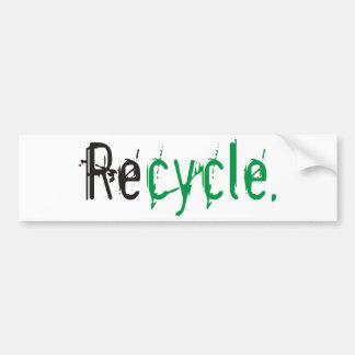 L'écologie et réutilisent des produits et des autocollant de voiture
