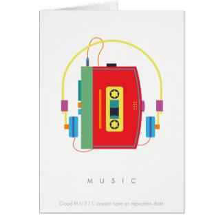 Lecteur de cassettes de baladeur, rétro carte de