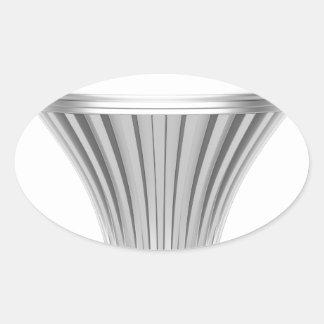 LED bulb Oval Sticker