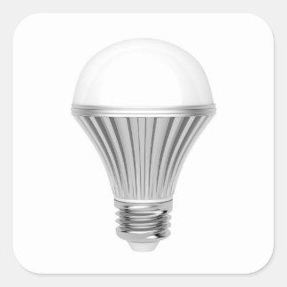 LED bulb Square Sticker