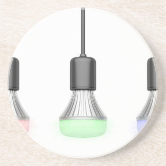 LED bulbs with different colors Coaster