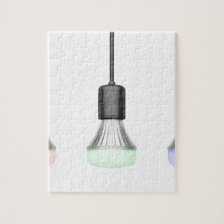 LED bulbs with different colors Jigsaw Puzzle