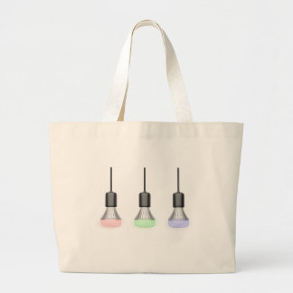 LED bulbs with different colors Large Tote Bag