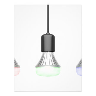 LED bulbs with different colors Letterhead