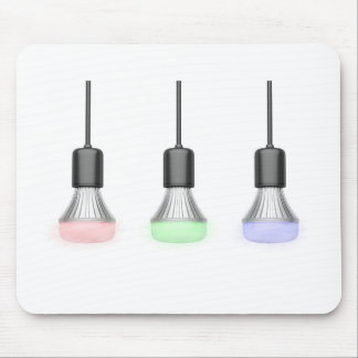 LED bulbs with different colors Mouse Pad