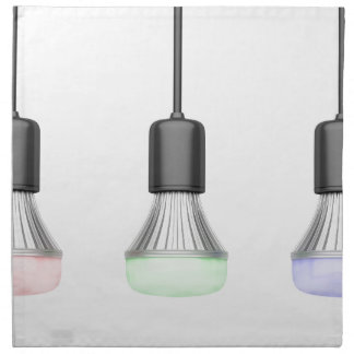 LED bulbs with different colors Napkin