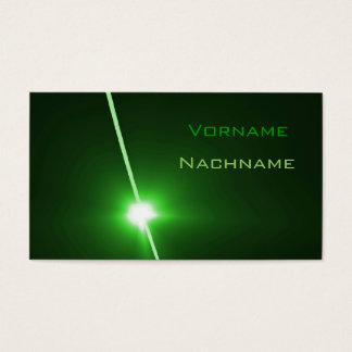 LED green Business Card