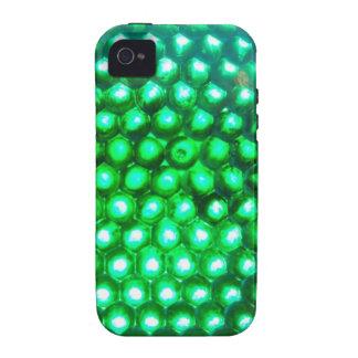 LED-green-lights948 DISCO BALL GREEN NEON LIGHTS F iPhone 4 Case