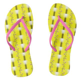 LED Lights and Flowers Slim Pink Straps flip-flops Flip Flops
