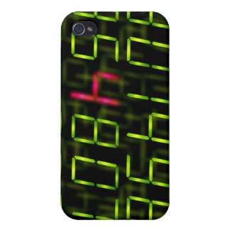 LED number red iPhone 4 Covers