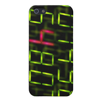 LED number red iPhone 5/5S Case