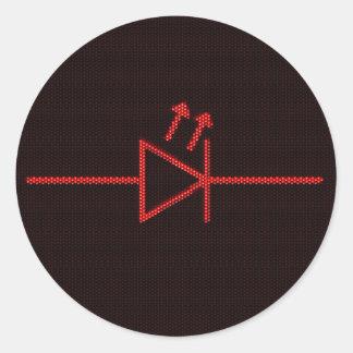 LED Symbol Classic Round Sticker