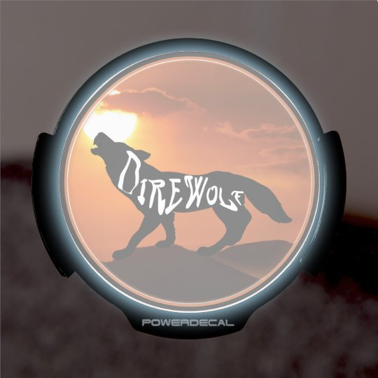 LED Window Decal DIREWOLF 2