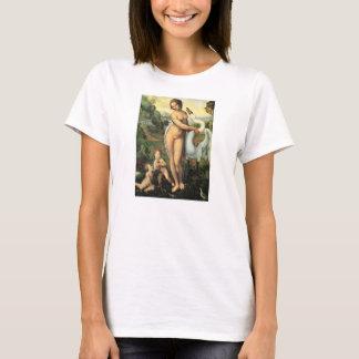 Leda and the Swan by Leonardo da Vinci T-Shirt