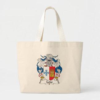 Ledo Family Crest Jumbo Tote Bag