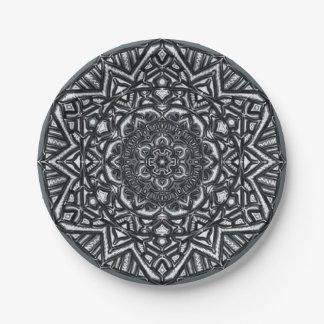 Ledras - Charcoal Mandala Paper Plate