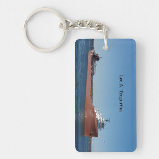 Lee A. Tregurtha rectangle acrylic key chain