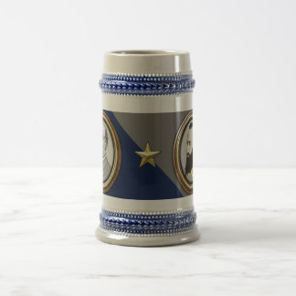 Lee and Jackson Civil War Beer Stein