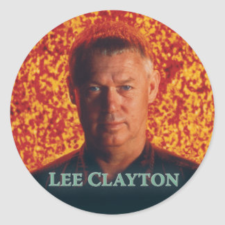 Lee Clayton Round Sticker 2