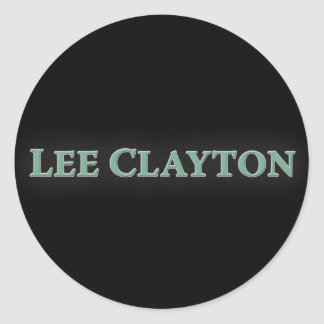 Lee Clayton Round Stickers (Name)