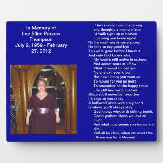 Lee Ellen Parzow Thompson Plaque