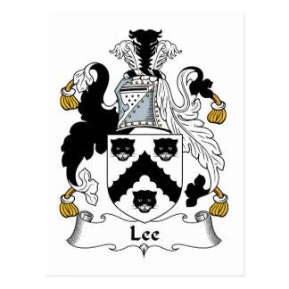 Lee Family Crest Postcard
