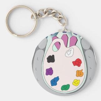Lee Walker Fine Art Basic Round Button Keychain