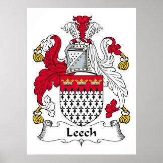 Leech Family Crest Poster
